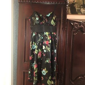 My Michelle Black Floral Dress- like new